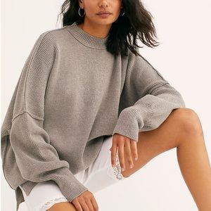 Free People Gray Easy Street Tunic Size Small